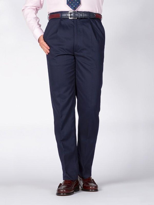 Flat front trousers of Navy Chino Suit