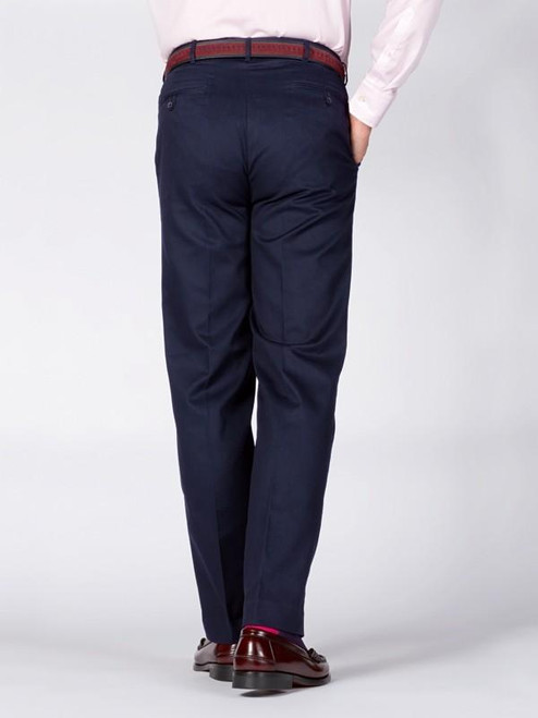 Two hip pockets on Navy Chino Suit