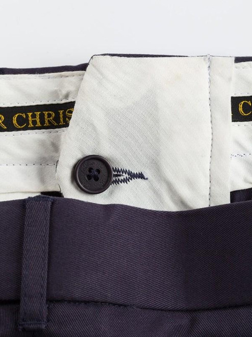 French bearer fly front on Navy Chino Suit
