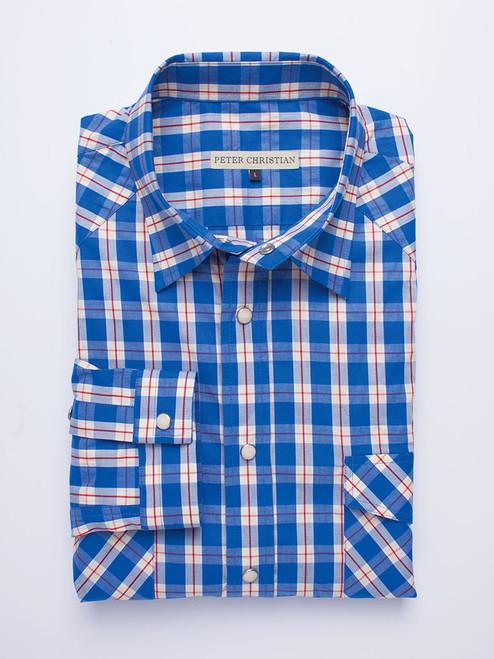 Blue Western Long Sleeve Shirt