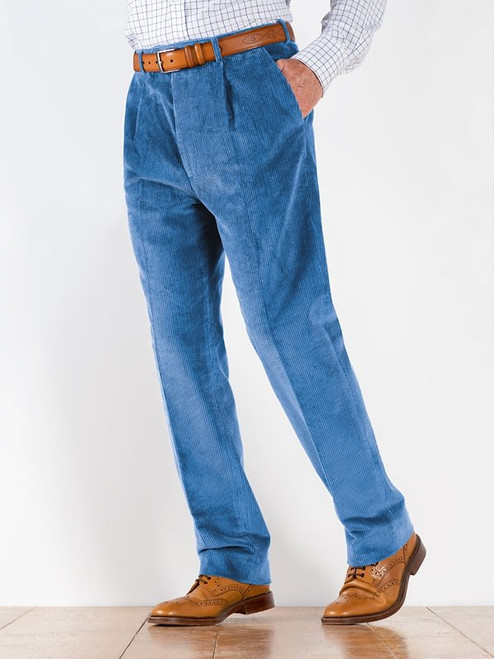 Image of Mens Royal Blue Corduroy Trousers