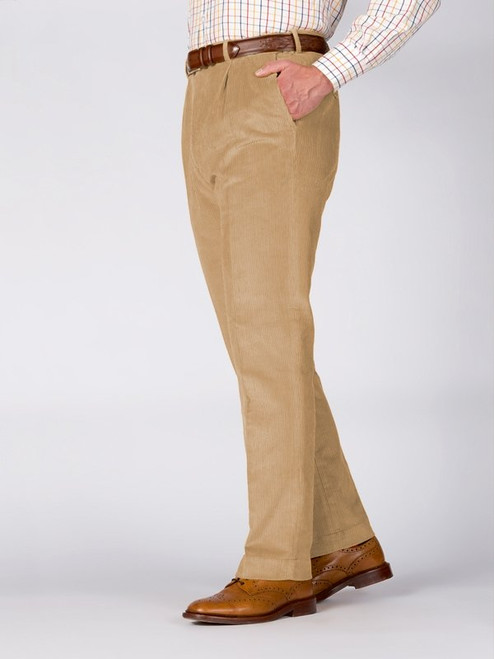 Image of Mens Sand Brown Corduroy Trousers