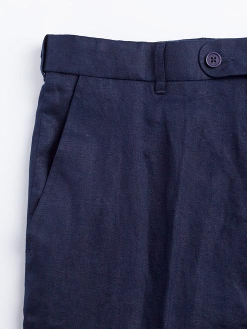 Deep Pockets on Navy Linen Suit