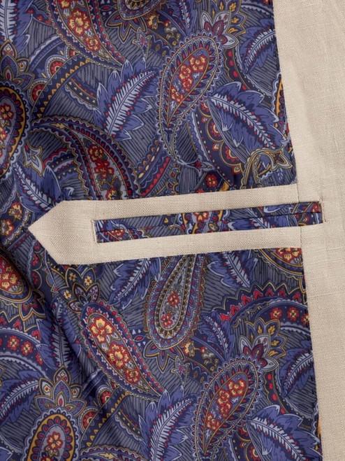 Inside Pocket on Natural Linen Jacket