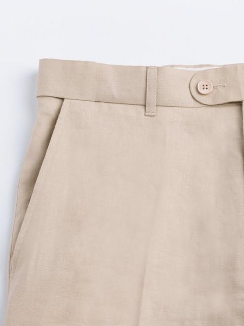 Deep Pockets on Natural Linen Jacket