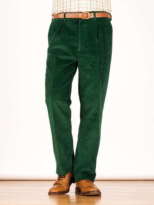 Image of Mens Emerald Green Corduroy Trousers
