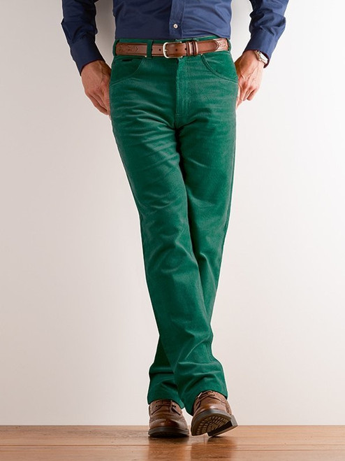 Image of Emerald Green Needle Cord Jeans