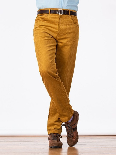 Image of Gold Yellow Needle Cord Jeans