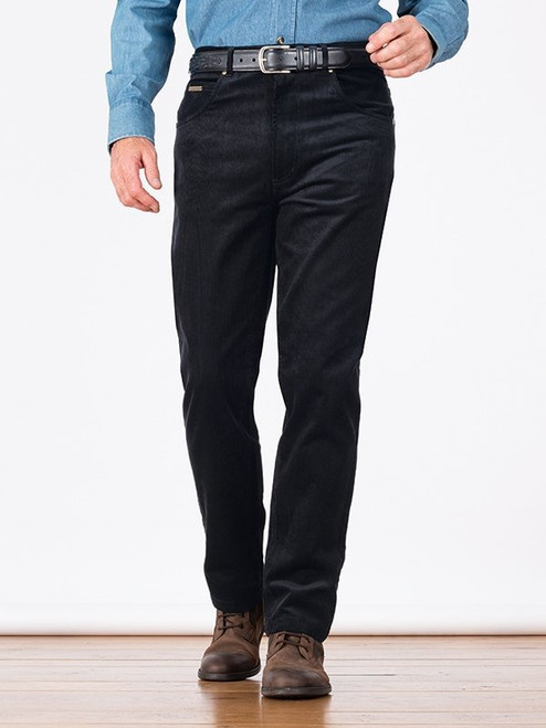 Image of Black Needle Cord Jeans
