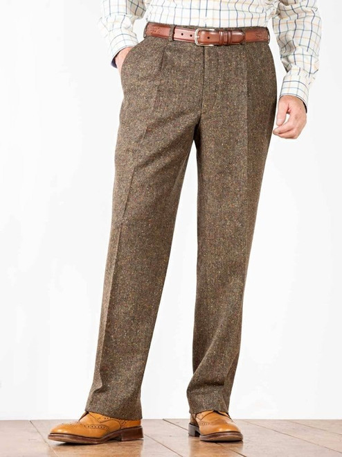Image of Bronze Fine Donegal Tweed Trousers