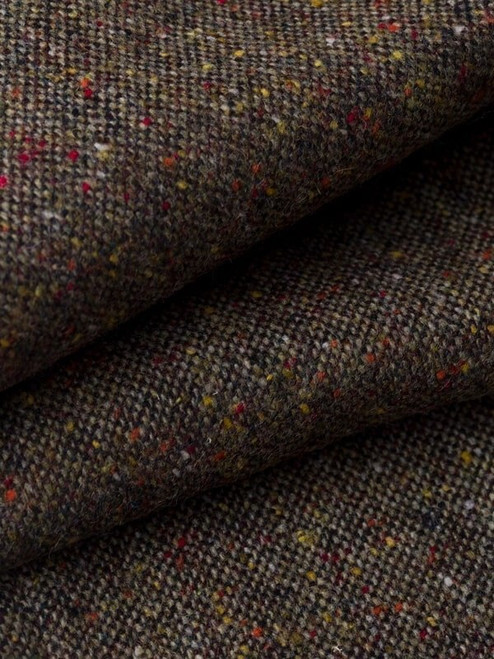 Close Up of Bronze Fine Donegal Tweed Trousers Fabric