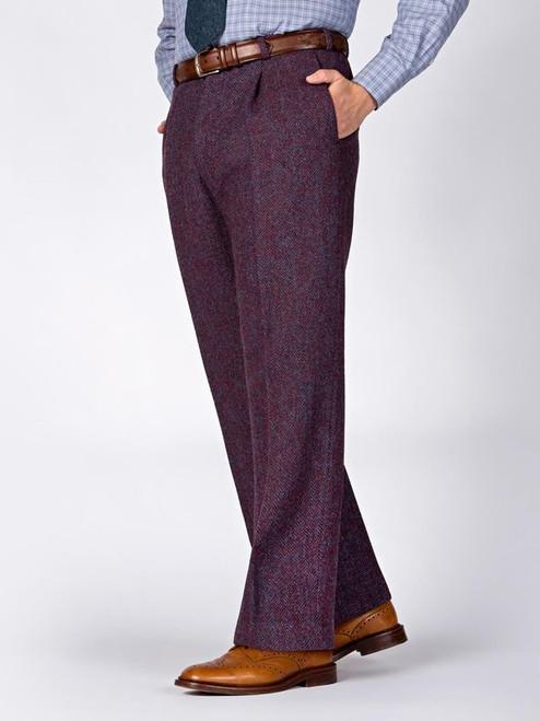 Image of Purple Burdock Harris Tweed Trousers