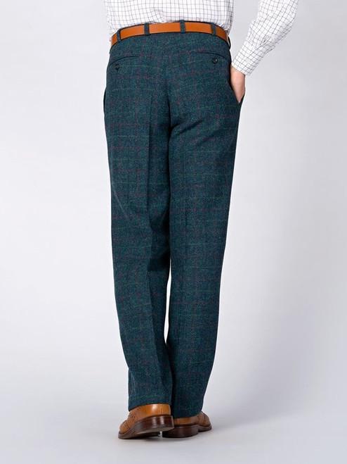 Rear Image of Marine Blue Harris Tweed Trousers