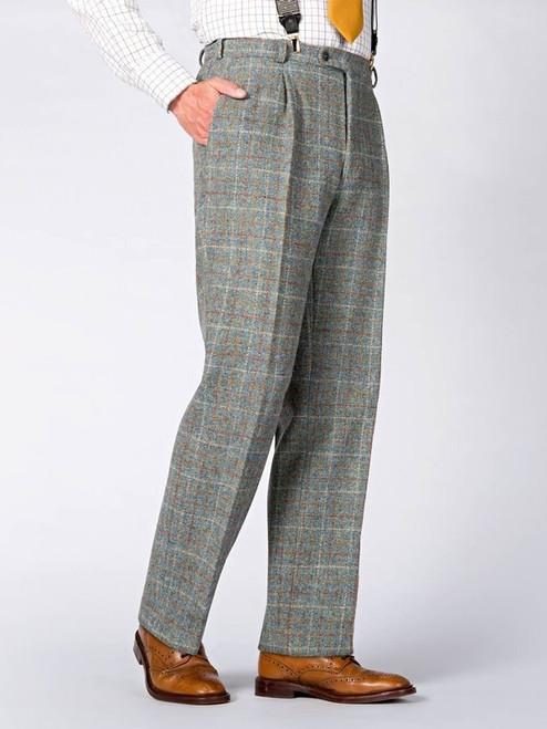 Image of Mist Blue Harris Tweed Trousers