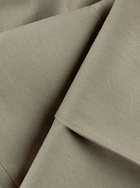 Close Up of Sage Green Pleated Chino Trousers Fabric