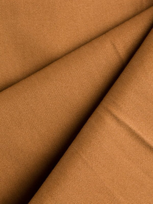 Close Up of Tan Brown Flat Front Chino Trousers Fabric