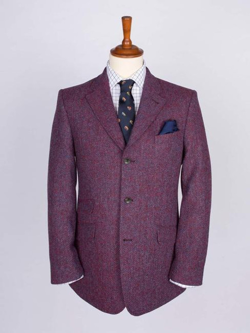 Image of Burdock Purple Harris Tweed 3 Button Jacket