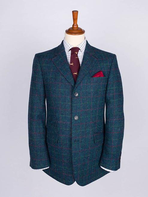 Image of Marine Blue Harris Tweed 3 Button Jacket