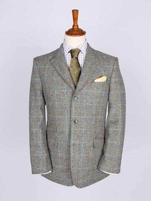 Image of Mist Blue Harris Tweed 3 Button Jacket