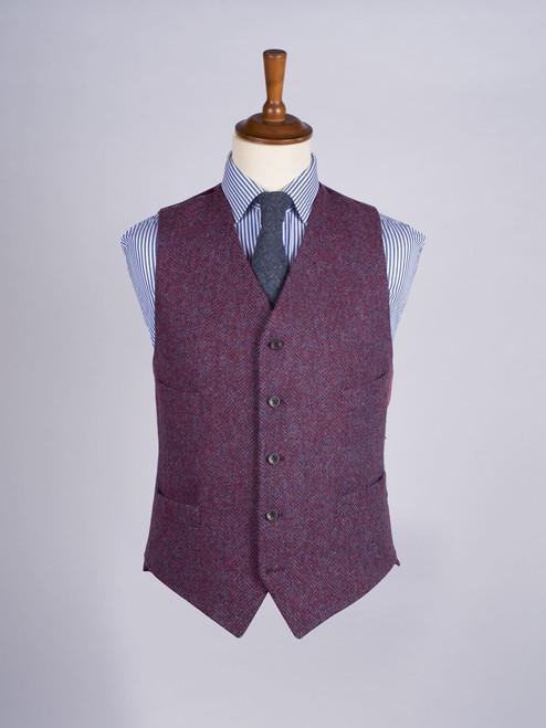 Image of Burdock Purple Harris Tweed Waistcoat