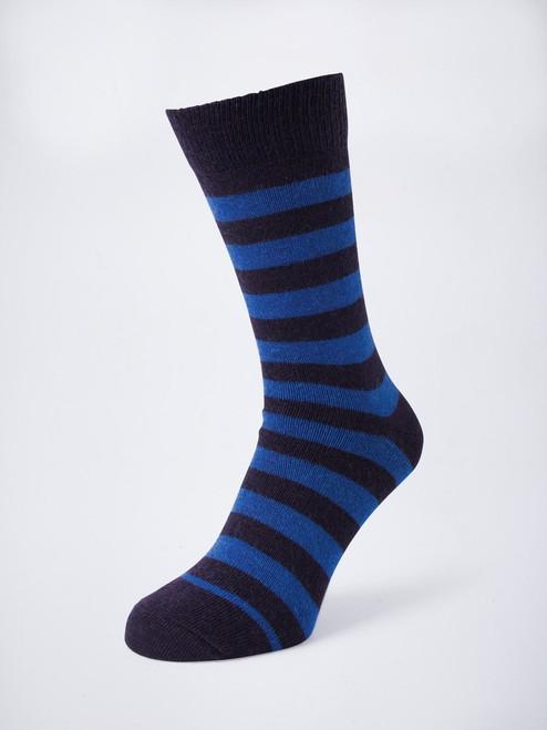 Royal Striped Mohair & Merino Socks