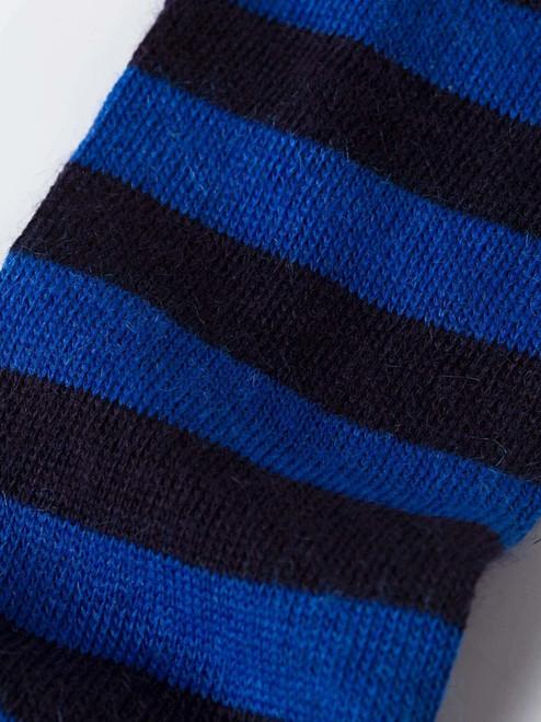Detail of Royal Striped Mohair & Merino Socks
