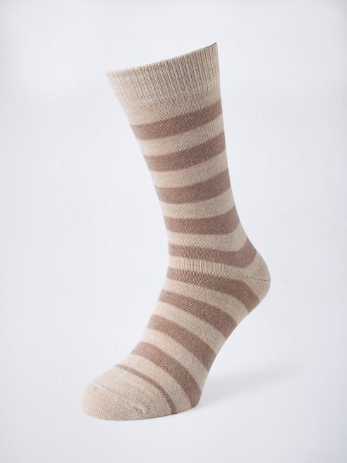 Sand Striped Mohair & Merino Socks