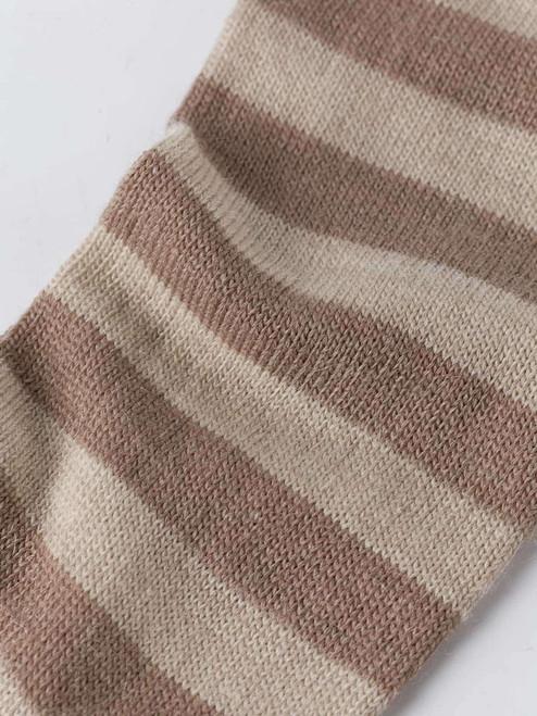 Detail of Sand Striped Mohair & Merino Socks