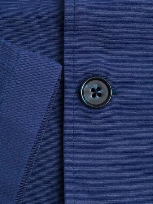 Close Up Image of Navy Blue Shacket details