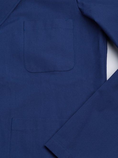 Close Up Image of Navy Blue Shacket fabric