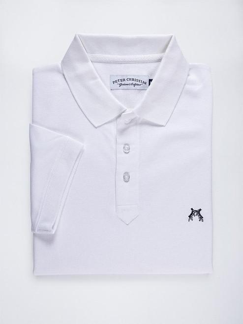 Folded Image of White Original Polo Shirt