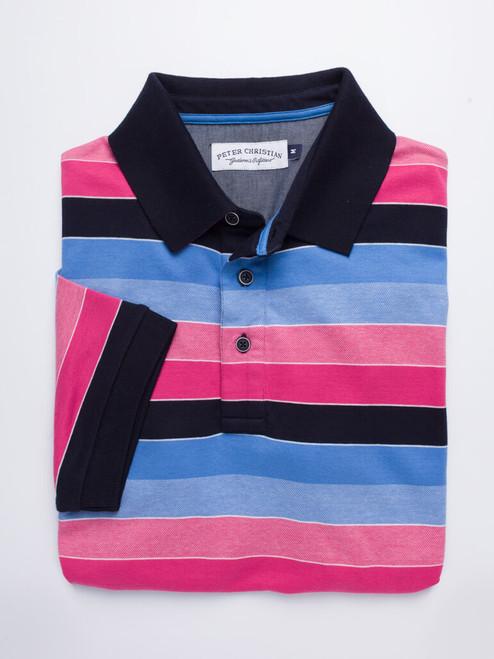 Folded Image of Pink & Navy Original Polo Shirt