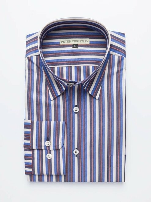 Blue Bold Stripe Shirt