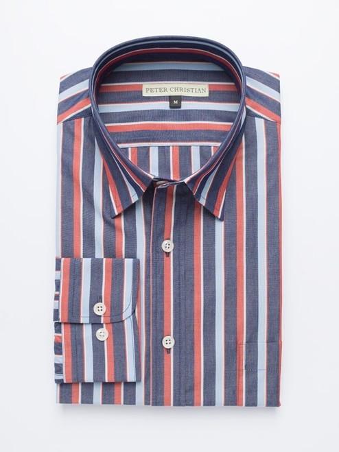Burgundy Bold Stripe Shirt