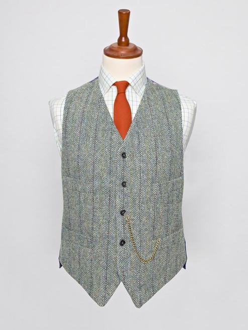 Image of Lovat Green Harris Tweed Waistcoat