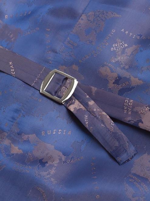 Close Up of Lovat Green Harris Tweed Waistcoat Lining