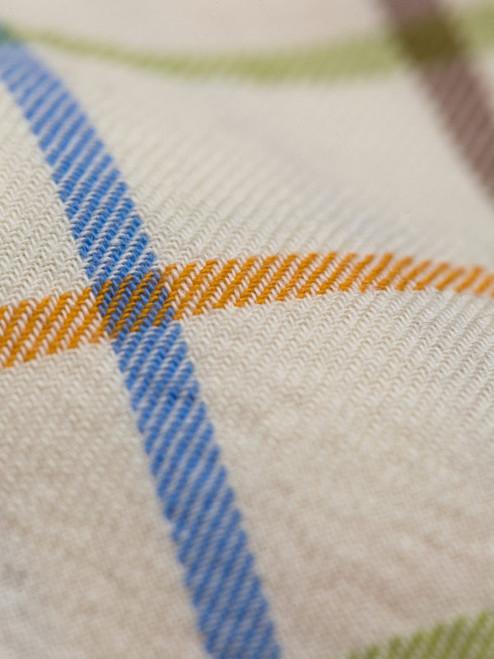 Detail of Rust Big Check Tattersall Shirt
