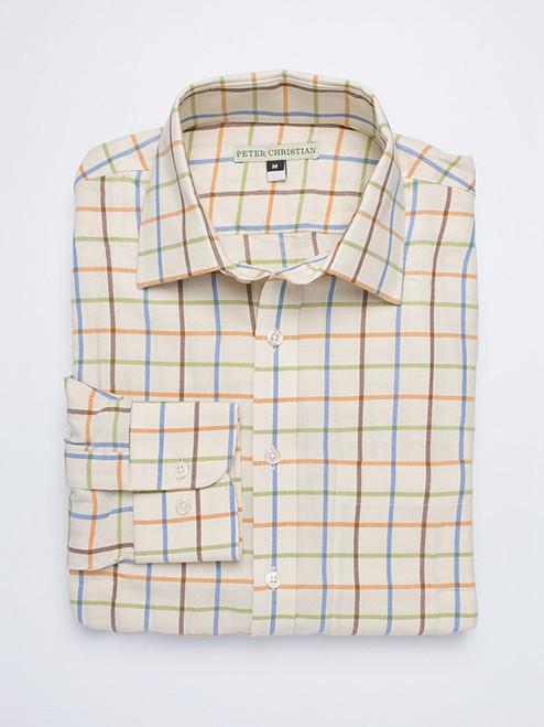 Rust Big Check Tattersall Shirt