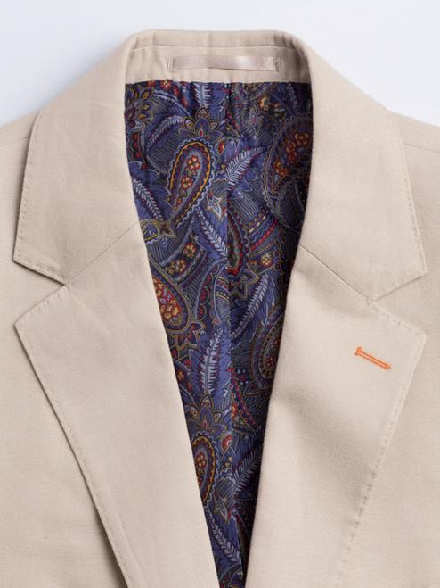 Paisley Lining on Natural Linen Jacket
