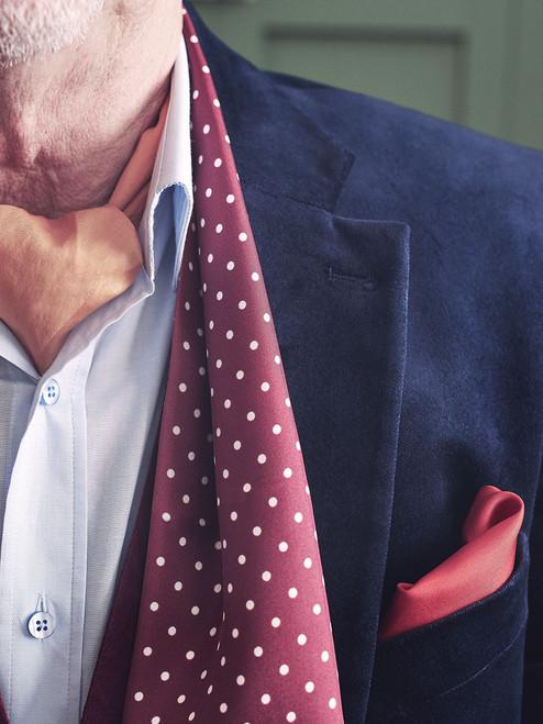 Close Up Image of Silk Polka Dot Birkin Scarf