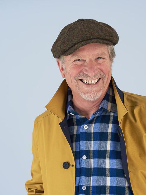 Close Up Image of Yellow & Navy Blue Weatherwear Reversible Raincoat