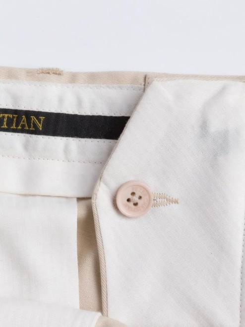 French bearer fly on Stone Chino Suit
