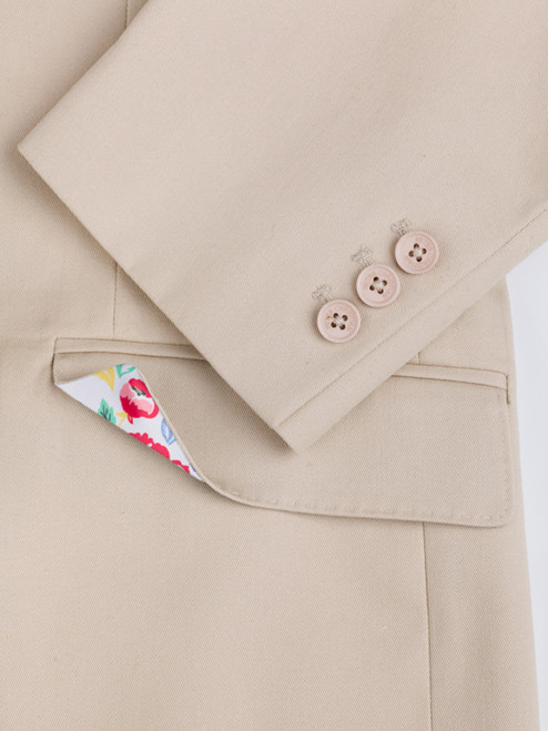 Working cuff on Stone Chino Suit