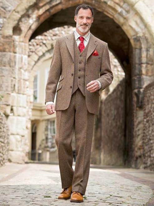 Image of Lichen Green Harris Tweed 3 Piece Suit