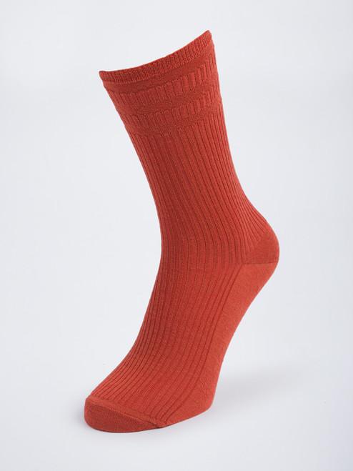Orange HJ Softop® Wool Rich Socks