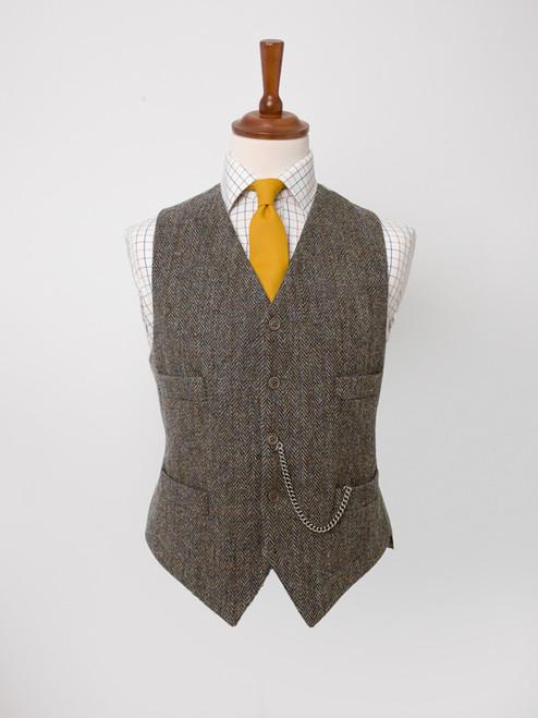 Image of Bracken Brown Harris Tweed Waistcoat