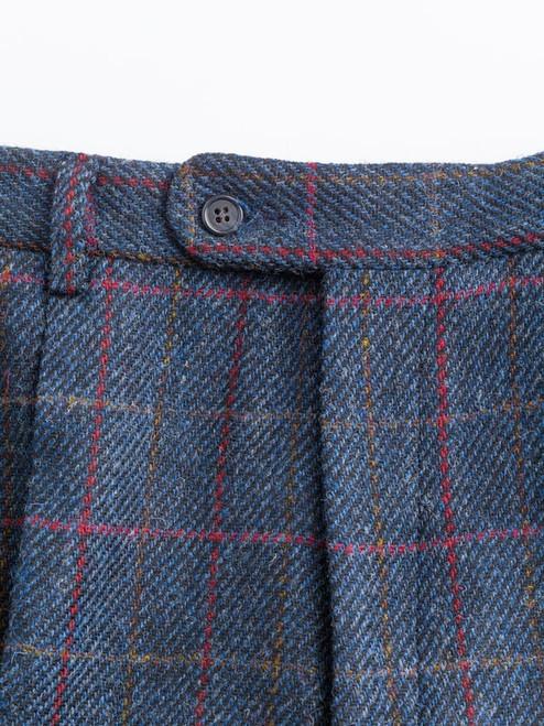 Image of Slate Blue Harris Tweed Trousers