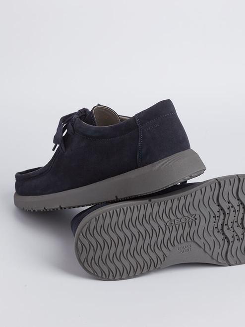 Mens Navy Geox Errico Suede Shoe