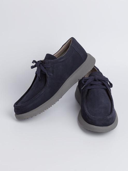 Image of Mens Navy Geox Errico Suede Shoe
