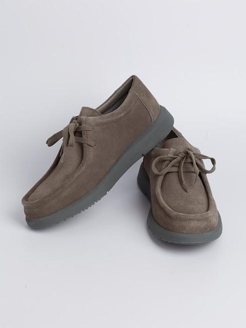 Image of Mens Grey Geox Errico Suede Shoe